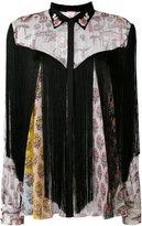 Giamba floral panel shirt - women - Silk/Cotton/Acetate/Metallic Fibre - 44