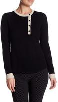 Cullen Asymmetric Henley Cashmere Sweater
