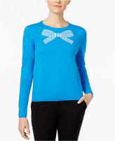 CeCe Striped Bow Sweater