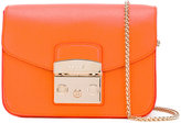 Furla embossed logo tote bag - women - Leather/Nylon/Viscose - One Size