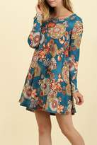 Umgee USA A Line Floral Dress