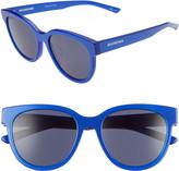 Balenciaga 54mm Round Cat Eye Sunglasses