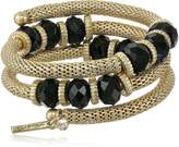 Kenneth Cole New York Faceted Bead Coil Bracelet