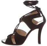 Proenza Schouler Suede Lace-Up Sandals