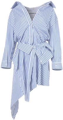 Alexander Wang Blue And White Striped Deconstructed Shirt Dress