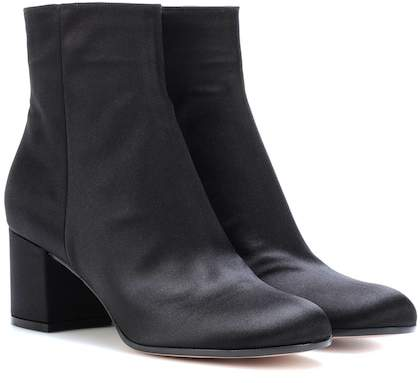 Gianvito Rossi Margaux Mid satin ankle boots