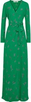 Diane von Furstenberg Peggy Printed Crepe De Chine Maxi Wrap Dress