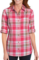 Dickies Women's Plaid Button-Down Shirt