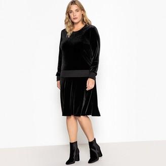 Castaluna Plus Size Drop Waist Velvet Dress