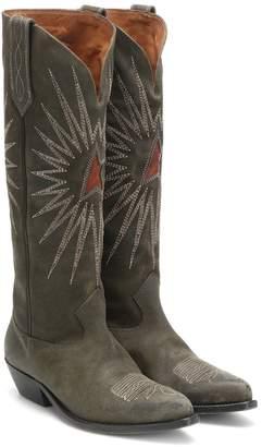 Golden Goose Wish Star suede knee-high boots