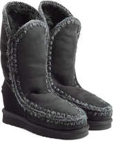 Mou Tall Wedge Sheepskin Boots