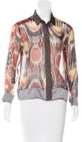 Dries Van Noten Silk Printed Top