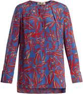 Diane von Furstenberg Tie-neck silk crepe de Chine blouse