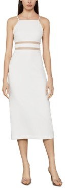 BCBGMAXAZRIA Satin Crepe Midi Dress
