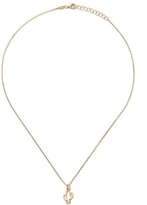 As 29 14kt yellow gold diamond Cactus necklace