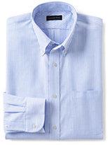 Classic Men's Tall Long Sleeve Buttondown Pattern Oxford Shirt-Charcoal Stripe