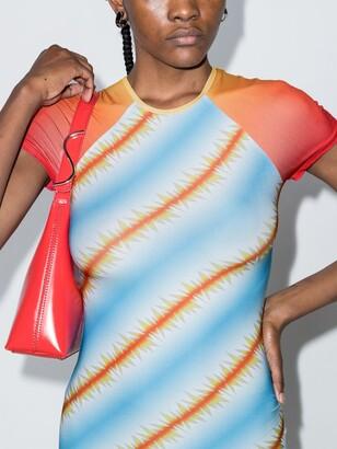 MAISIE WILEN Blue Slinky T-Shirt Midi Dress