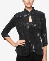 Alex Evenings Petite Metallic Jacket & Shell