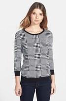 Chaus Jacquard Crewneck Sweater