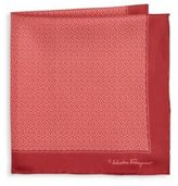 Salvatore Ferragamo Interlocking Gancini Silk Pocket Square