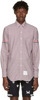 Thom Browne Tricolor Classic University Check Grosgrain Shirt