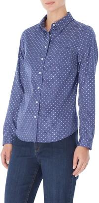 Jones New York Dot Button-Up Cotton Shirt
