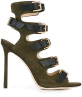 Jimmy Choo 'Trick 110' sandals - women - Leather/Suede - 36.5