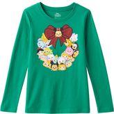 Disney Disney's Tsum Tsum Girls 7-16 Christmas Wreath Tee