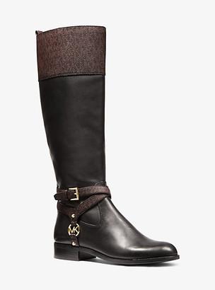 Michael Kors Preston Two-Tone Leather Boot
