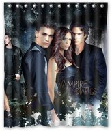 "Hzlrose Custom Vampire Diaries Cast Shower Curtain 60""x 72"""