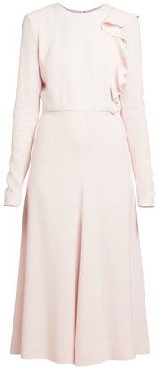 Giambattista Valli Ruffle Panel Midi Dress