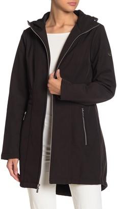MICHAEL Michael Kors Missy Front Zip Hooded Jacket