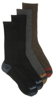Timberland Comfort Men's Boot Crew Socks - 4 Pack