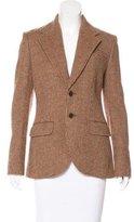 Ralph Lauren Suede-Accented Wool-Blend Blazer