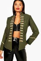 boohoo Laura Khaki Military Jacket