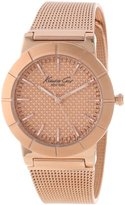 Kenneth Cole New York Women's KC4908 Classic Triple Rose Gold Mesh Bracelet Watch