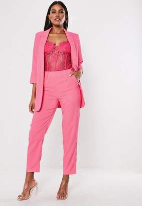 Missguided Pink Co Ord Cigarette Pants