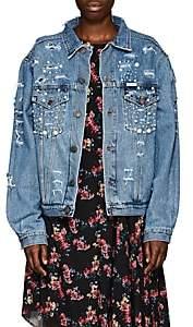Couture Forte Dei Marmi Women's Tokyo Embellished Denim Jacket - Md. Blue