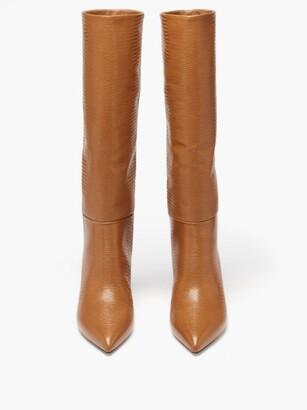 Paris Texas Lizard-effect Leather Knee-high Boots - Tan