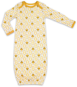 The Peanut Shell Tiger Sleep Gown Unisex Knit Nightgown Long Sleeve Round Neck