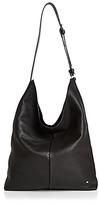Halston Tina North/South Leather Shoulder Bag