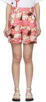 Marni Orange Floral Shorts