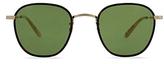 Garrett Leight Grant Amber Round Sunglasses, 49mm