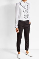 Karl Lagerfeld Cotton Blouse with Ruffles