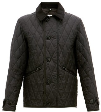 Burberry Spread Collar Quilted Field Jacket - Mens - Black