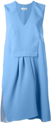 Carven Asymmetric V-Neck Dress