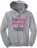 TeeStars - This Little Princess Is Three 3 Years Old Girl Birthday Youth Hoodie
