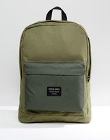 Jack and Jones Backpack In Green