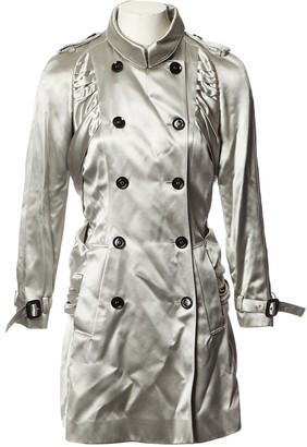 Burberry Grey Silk Trench coats