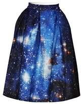 Cfanny Women's Sakura Pleated Flare Skater Skirt